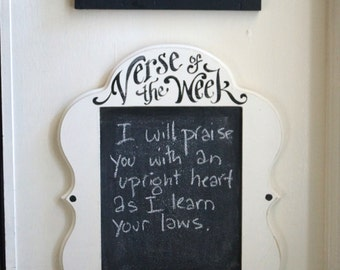 """Verse of the Week Chalkboard Claire Frame 11x14"""" opening"""