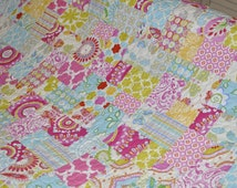 MADE TO ORDER Custom Twin Size  Girl Quilt Blanket Vintage Inspired Shabby Chic Style Kumari Garden Fabric by Dena Design