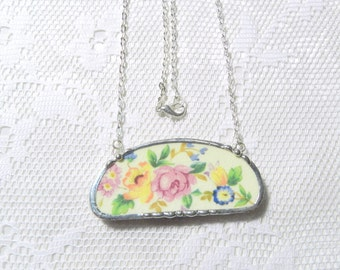Broken China Necklace Recycled China