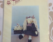 Vintage Rag Doll and Dog Pattern 1989