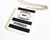 RESERVED for Steve - Empire Records Personalized Name Badge Necklace