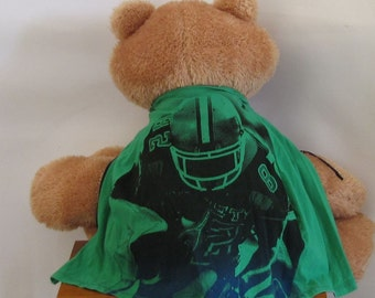 Child Apron or Cape:  Green Cotton Football Handmade by Fashion Green T Bags