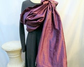 Silk Ring Sling Double layer/ Dupioni Silk, Special Occasion, baby shower gift, Baby Carrier - Amethyst- DVD included - Ready to Ship