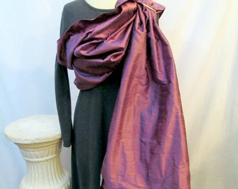 Silk Ring Sling Double layer Baby Carrier - Amethyst- DVD included - Ready to Ship