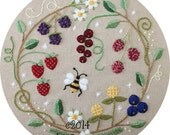 Fruit Wreath Crewel Embroidery Pattern