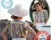 E-Pattern- Smooth Sailing 1930s BLOUSE Pattern- Size Pack A- Wearing History PDF