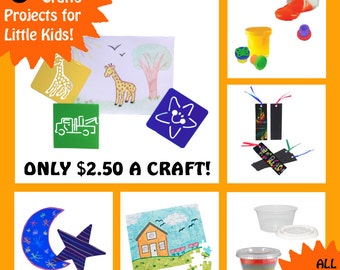 CHILDRENS CRAFT KITS - 6 Craft Kits for Little Kids - All Supplies Included! - Something New