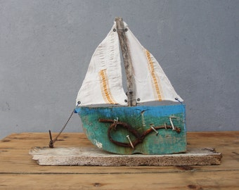 Rustic Ship Swept Ashore Boatwood, Driftwood Nautical Home Decor