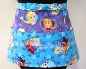 NEW Frozen Sisters Forever Zipper/Key Clasp Vendor Apron