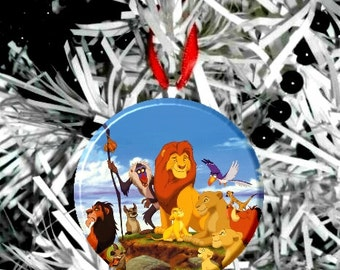 Lion King Group Christmas Tree Ornament - Personalize Option