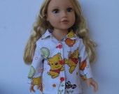 "Clothes for American girl,Journey Girl,Madame Alexander,Battat,Springfield,Gotz 18"" Doll Pajamas"