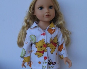 "Clothes for American girl,Journey Girl,Madame Alexander,Battat,Springfield,Gotz 18"" Doll Pajamas"