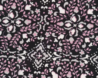Free Spirit McKenzie by Dena Designs Bohemia in Black cotton fabric Sold by the Yard