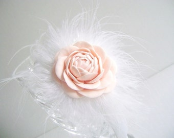 Flower Girl Head Band Hair Accessories Wedding Flower Girl Pink Hair Flower