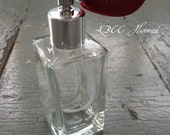 Winter Berry Square Perfume Atomizer- Can Be Custom Filled