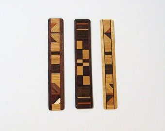 Bookmarks Made Of  Exotic Woods Set Of Three