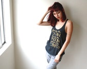 Shine Like the Stars. Yoga Racerback Tank Top with Gold Ink. MADE TO ORDER