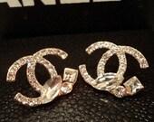 Style #27 CC inspired Multi diamond Style 4 earring fashion brand earring