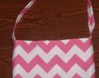 Hot pink Chevron toddler purse