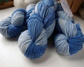 DK Weight Yarn, Hand Dyed Superwash Merino Wool, 310 yards/100 Grams, Little Boy Blue