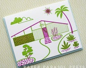 Mid-century House II Letterpress Card