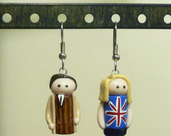 10th Doctor and Rose earrings