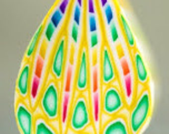Polymer Clay Petal Cane -'Sweet Hope' (25dd)