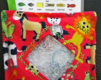 I Spy Bag - Mini with SEWN Word List and Detachable PICTURE LIST- Zoo Animals