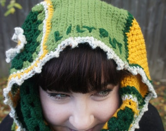 Spring Daisy - Granny Square Scarf Cowl/Hoodie