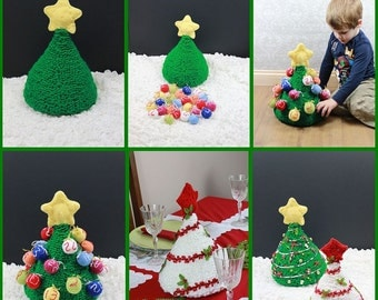 CROCHET PATTERN For Christmas Tree Advent Calendar Christmas Decoration  PDF 294 Digital Download