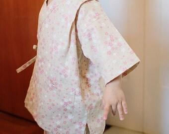 KIDS KIMONO - PDF e pattern - Kids Jinbei - size 3Y
