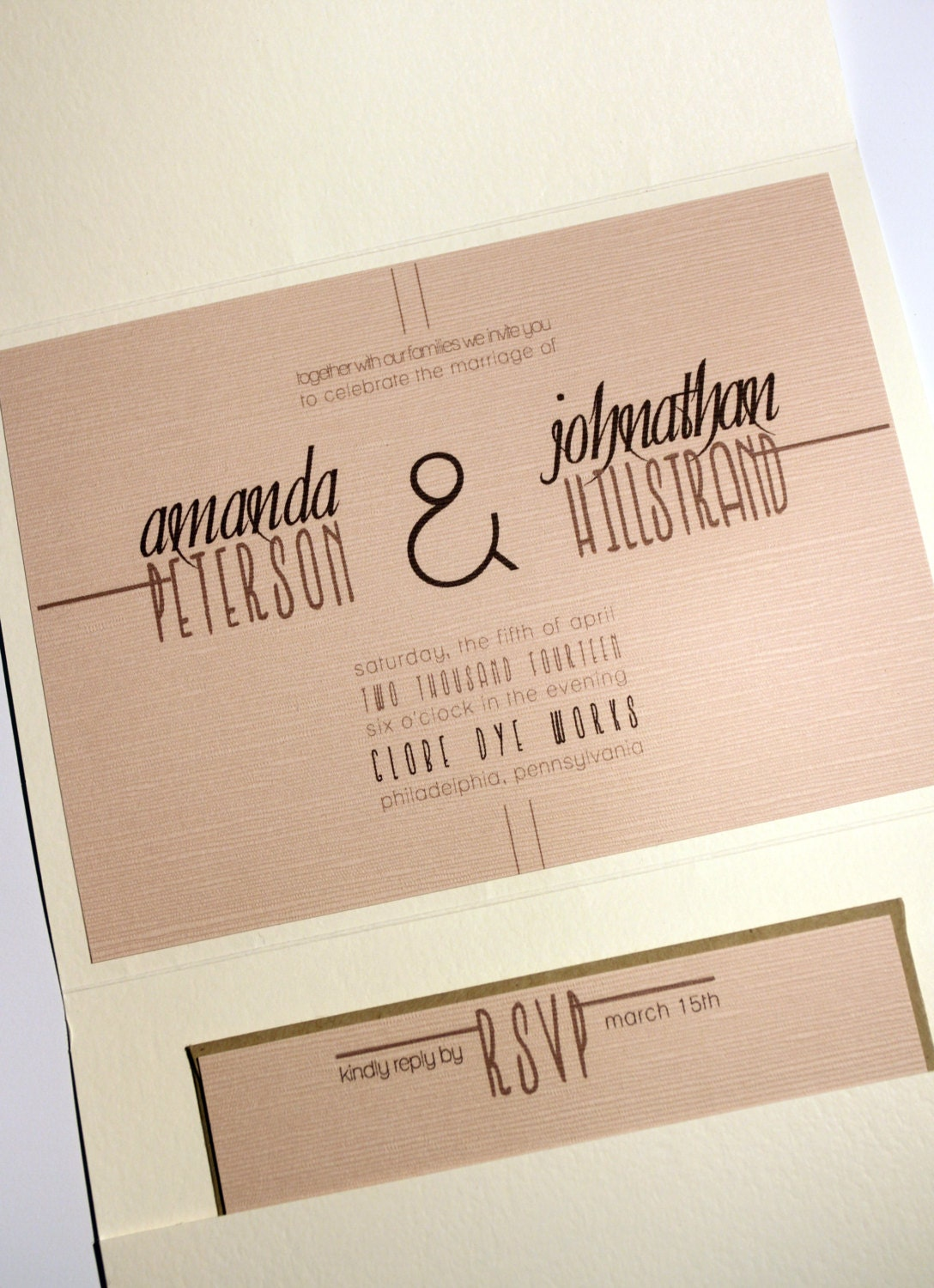 Pocket Fold Wedding Invitations is luxury invitations design