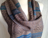 Shades of Gray with Taupe Bamboo Handwoven Scarf DBJ35