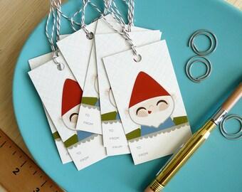 Gnome Gift Tag Set