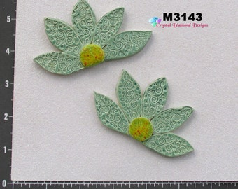 Assorted  Flowers  - Kiln Fired Handmade Ceramic Mosaic Tiles M3143