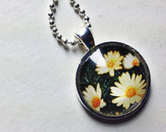 Daisies Photo Pendant