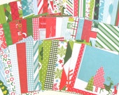 Recollections Bright Christmas Cardstock Paper - Printed Paper - Set of 42 - 6 x 6 Inches