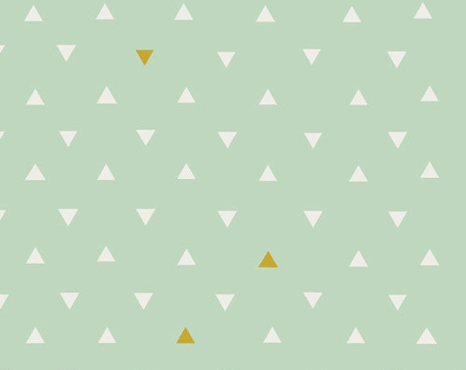 Boho Fabric, Gold fabric, Arizona Fabric, Tribal, Triangle Tokens, Mint Green fabric, April Rhodes for Art Gallery- You Choose the Cut
