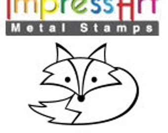 Design Stamp - FOX - 6mm stamped image by ImpressArt -  includes How to Stamp Metal tutorial