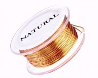 Copper Non Tarnish Craft Wire 20 Gauge Round 10 Yards Half Hard