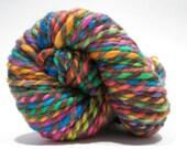 Hand Dyed Merino Wool - 2 Ply Bulky Weight Yarn – Brown Rainbow Yarn – 66 Yards