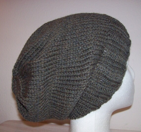 Wool Hipster Beanie Slouchy Knit Hat by CreativeHandknits