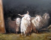 Spring Release. Original Oil Painting on panel Vermont country art, Print of original painting 8 by 10