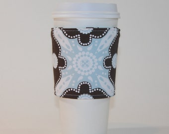 Reversible Coffee Cup Sleeve - Padded and Reusable - Espresso Impressions