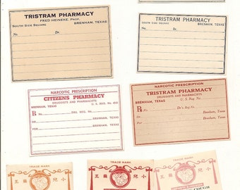 41 1930s plus Drugstore,Pharmacy ,Poison and Medicine Labels etc