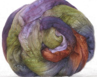 Handpainted Roving -- Yak, Merino and Silk