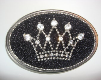 Rhinestone Belt buckle Womens - Queen Bee  - wearable art