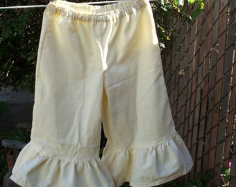Bohemian Palazzo Pantaloons Girls 6 - 16 Cotton Flannel Ruffled Bloomers Custom made