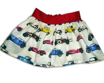 Girl's Classic Cars Skirt / Children's / Kids / Baby Clothes