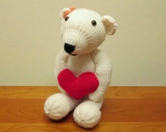 Be My Valentine Teddy Bear, Handmade Plush Stuffed Animal